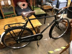 PASHLEY BLACK FRAME BICYCLE WITH LEPPER SADDLE