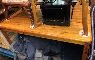 RECTANGULAR PINE KITCHEN TABLE