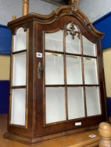 WALNUT DUTCH STYLE ARCH TOP WALL MOUNTED CABINET