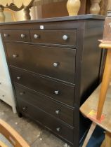 BLACK ASH TALL TWO OVER FOUR DRAWER CHEST