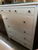 WHITE ASH TALL TWO OVER FOUR DRAWER CHEST