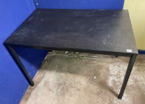 BLACK ASH RECTANGULAR OFFICE TABLE 110CM X 74CM