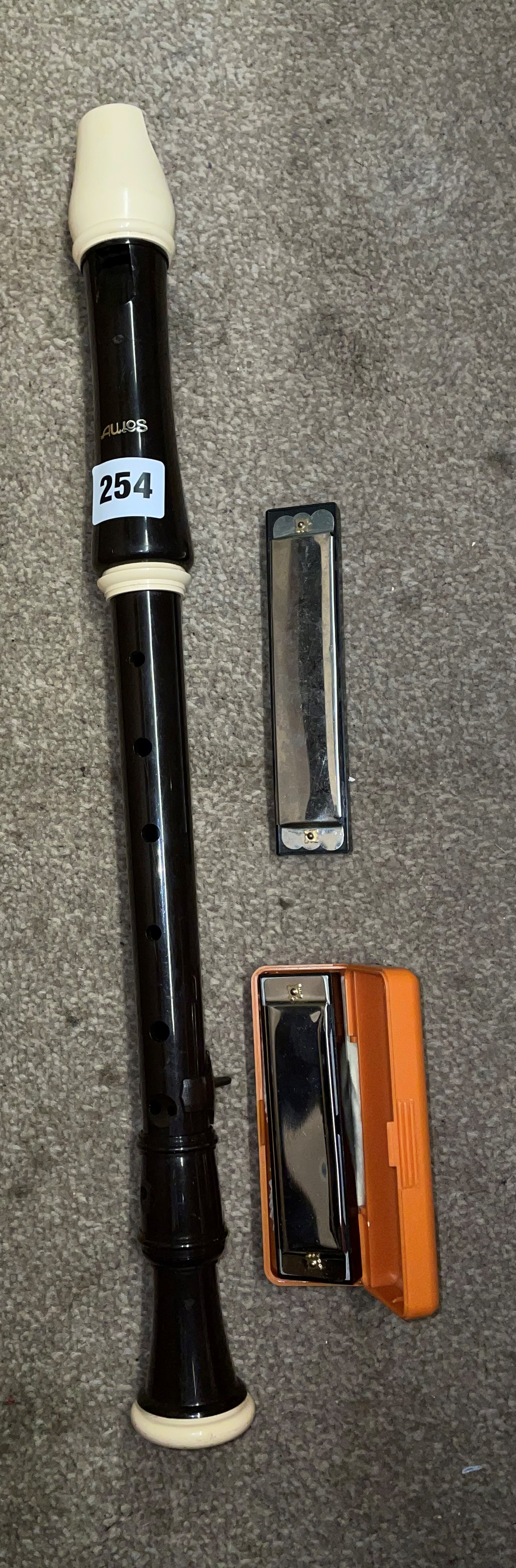 AULUS RECORDER AND TWO HARMONICAS