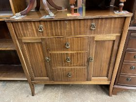 MAHOGANY CHEST OF DRAWERS WITH FALL DOWN FLAP