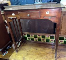 MAHOGANY HALL TABLE WITH FRIEZE DRAWER AND PULL OUT SLIDES