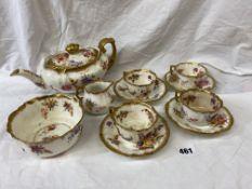 HAMMERSLEY DRESDEN SPRAYS MINIATURE PART TEA SET