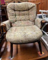 ERCOL SPINDLE BACK ARMCHAIR
