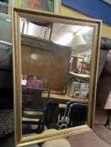 GILT AND FAUX MARBLE EFFECT MIRROR