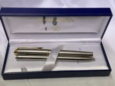 CASED WATERMAN PEN AND PENCIL SET
