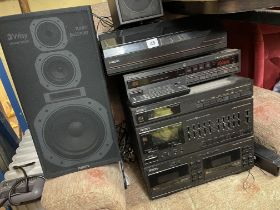 PHILLIPS HI-FI SYSTEM AND SPEAKERS