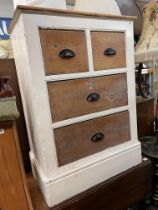 PAINTED PINE TWO OVER TWO DRAWER CHEST