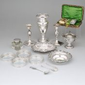 Group of Mainly English and North American Silver, 20th century, vase height 6.9 in — 17.4 cm (19 Pi