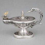 Edwardian Silver 'Aladdin's Lamp' Table Cigar Lighter, Joseph Braham, London, 1905, height 3.7 in —