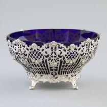 German Silver Pierced Circular Bowl, Storck & Sinsheimer, Hanau, early 20th century, height 37 in —