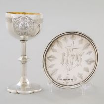 Victorian Silver Small Chalice and Standing Paten, Charles Rawlings & William Summers, London, 1854