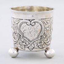 North European Silver Beaker, c.1723, height 3.3 in — 8.5 cm