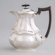 English Silver Hot Water Pot, Herbert Slater, Sheffield, 1922, height 8.6 in — 21.8 cm