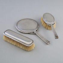 Danish Silver Dressing Table Set, Grann & Laglye, Copenhagen, 1933, mirror length 10.2 in — 26 cm (3