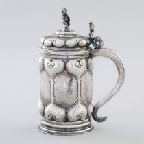 German Silver Small Tankard, probably late 19th century, height 6.3 in — 16.1 cm