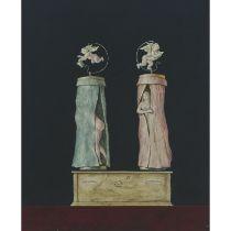 """Armodio (Vilmore Schenardi) (B.1938), BAROMETRO, 1964, Tempera on panel; signed """"Armodo,"""" titled and"""