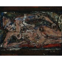 Alexander Gore (B.1958), SETTLE EFFECT OF COLOR, Oil on museum board; signed and dated indistinctly
