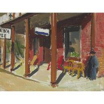 Jack Hamilton Bush, O.S.A., A.R.C.A. (1909-1977), MATTAWA HOUSE, 1946, Oil on paperboard; signed and