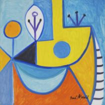 René Marcil (1917-1993), UNTITLED, CIRCA 1975, Oil on board; signed, 24 ins x 24 ins; 61 cms x 61 cm
