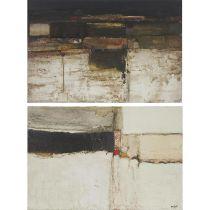 """Jac Kephart (1940--2019), UNTITLED (2 WORKS), Two mixed media works on canvas; each signed """"Kephart"""""""