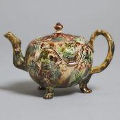 Whieldon-Type Creamware Teapot, c.1755, height 4.5 in — 11.5 cm