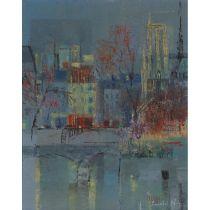 """László (Lancelot) Ney (1900-1965), THE SEINE IN PARIS, Oil on canvas; signed """"Lancelot Ney"""" lower ri"""