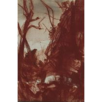 Pietro Annigoni (1910-1988), PAESAGGIO, Red chalk on board; signed in black ink lower right, titled