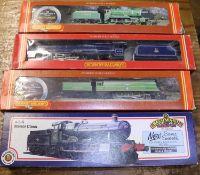 4x OO gauge railway tender locomotives. A Bachmann Branchline GWR Manor Class 4-6-0 loco, Bradley