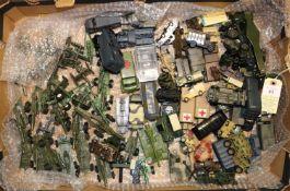 100+ Military vehicles by various makes including; Midgetoy, Tootsietoy, Lone Star, Matchbox, Corgi,