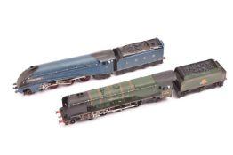 11+ items of Hornby Dublo railway for 3-rail running. Including 2x tender locomotives; a BR