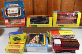Quantity of various makes. 2 Corgi Toys. London Transport Routemaster Bus (468). In red L.T. livery,