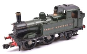 A Gauge One coarse scale GWR Class 14xx 0-4-2T locomotive for 3-rail running. A kit-built brass