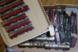 Hornby Dublo 3-rail locomotives and passenger rolling stock. 4 tender locomotives- 3x Coronation