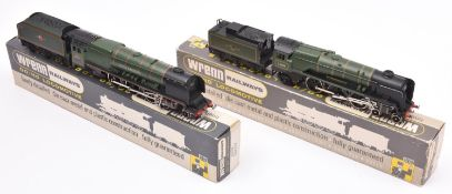 2x Wrenn Railways OO gauge BR locomotives very well adapted for 3-rail running. A West Country Class