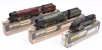 3x Wrenn Railways OO gauge BR locomotives very well adapted for 3-rail running. 2x Coronation