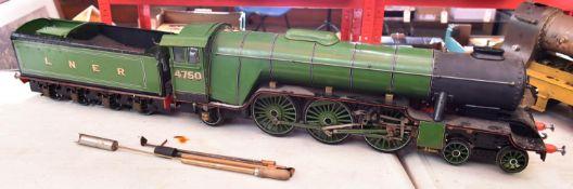 A 3.5 inch gauge live steam LBSC 'Hielan Lassie'. Based on a Class A1 4-6-2 tender locomotive.