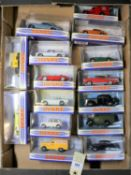 15 matchbox Dinky. Triumph TR4A, Commer 8CWT van, Sharp's. Bentley R Continental, 2x Jaguar E