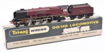 Tri-ang Wrenn Railways OO gauge BR locomotive. A Coronation Class 4-6-2 tender loco, City of
