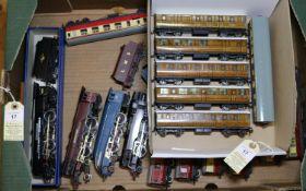 Hornby Dublo 3-rail locomotives and passenger rolling stock. 3 tender locomotives- 2 Coronation