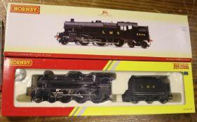 2 Hornby Railways LMS locomotives. A Stanier class 4MT 2-6-4T RN2546 (R2635) and a class 5MT 4-6-0