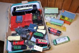 A quantity of O Gauge model railway. Including 3x No.50 etc 0-4-0T locomotives; LNER, GWR and LMS