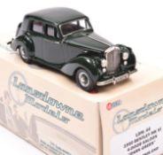 Lansdowne Models LDM.64 1950 Bentley MkV1 4 door saloon. An example in dark green with dark brown