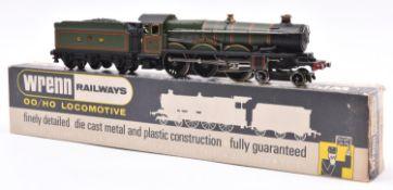 Wrenn Railways OO gauge GWR locomotive. A Castle Class 4-6-0 tender loco, Devizes Castle 7002, in