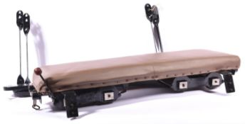 A 3.5 inch gauge railway driving truck for raised track. A bogie truck fitted with brake, padded