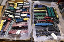 70+ OO gauge model railway items by Tri-ang, Hornby, etc. Including 8x locomotives; 2x Princess