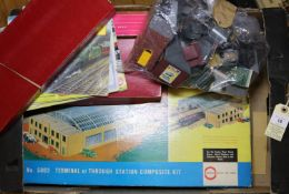 Hornby Dublo. A Terminal or Through Station Composite Kit 5083. Engine Shed Kit (2 Road) 5005.